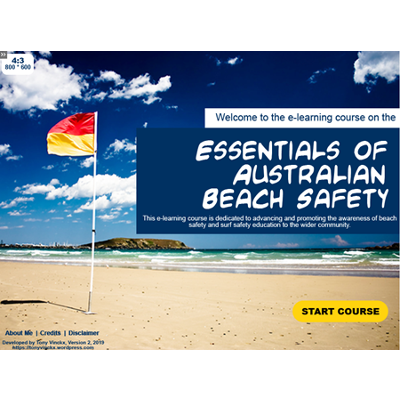 Essentials of Australian Beach Safety free e-learning course icon