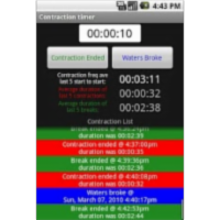 Pregnancy Contraction Timer App for Android icon