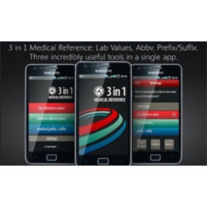 Lab Values and Medical Reference App for Android