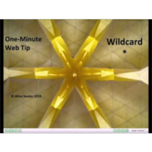 Effective Web Searching:  WILDCARD icon