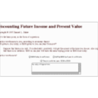 Discounting Future Income and Present Value icon