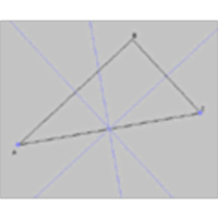Perpendicular Bisectors of a Right Angled Triangle icon