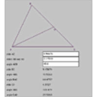 Triangle Angle Calculator (given 2 sides and a non-included angle)) icon