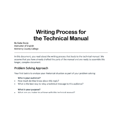 Writing Process for a Technical Manual icon