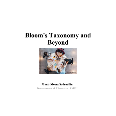 Bloom's Taxonomy and Beyond icon