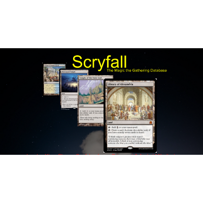 The Syntax of Scryfall, a Magic the Gathering Organizing System