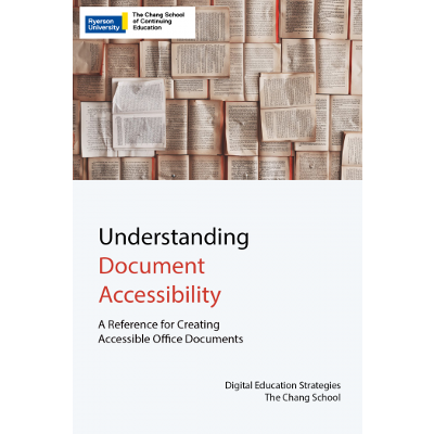 Understanding Document Accessibility -  Open Textbook icon