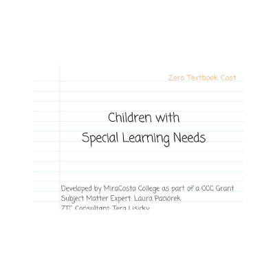Children with Special Learning Needs - CHLD 240 icon