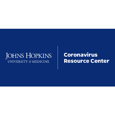 Johns Hopkins University & Medicine:  Coronavirus Resource Center/COVID-19 Tracking Data Map icon