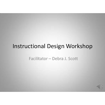 Introduction to Instructional Design Workshop