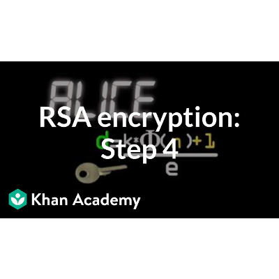 RSA encryption: Step 4 | Journey into cryptography | Computer Science | Khan Academy icon