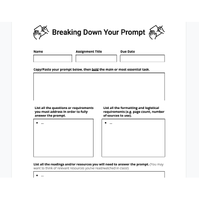 Breaking Down Your Prompt icon