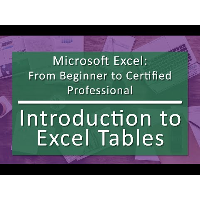 Unit 06 Working with Excel Tables (Playlist with 7 videos) icon