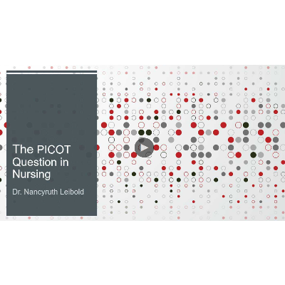 The PICOT question in nursing icon