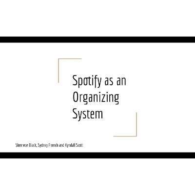 Spotify as an Organizing System Instructional Session icon