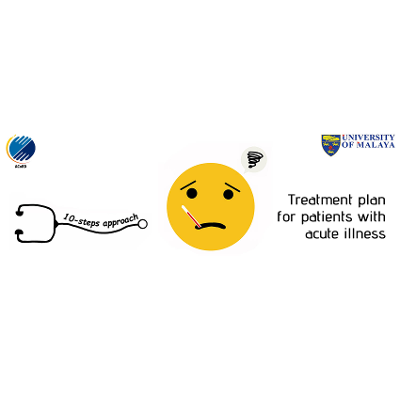 Treatment plan for patients with acute illness icon