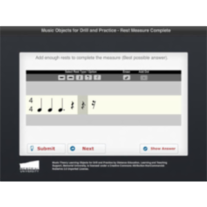 Complete Measure With Rests App for iPad