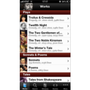 Shakespeare App for iOS icon