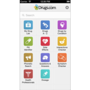 Drugs.com Medication Guide App for iOS icon