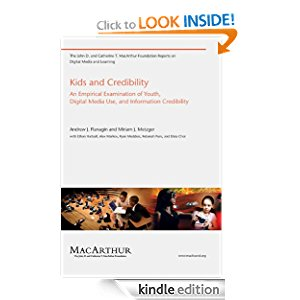 Kids and Credibility (The John D. and Catherine T. MacArthur Foundation Reports on Digital Media and Learning) icon