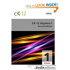 CK-12 Algebra I - Second Edition, Volume 1 Of 2 icon
