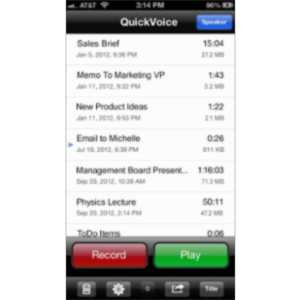 QuickVoice® Recorder App for iOS icon