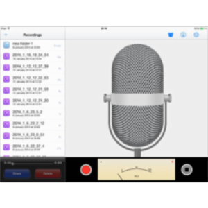 Voice Recorder App for iPad icon