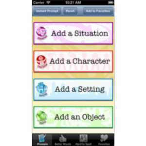 Writing Prompts for Kids App for iOS