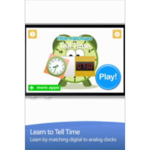 Tell Time - Little Matchups Game App for iOS icon