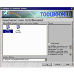 Creating modules with Toolbook II Instructor icon