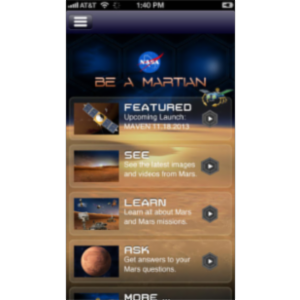 NASA Be A Martian App for iOS icon