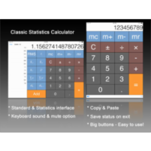 Calculator HD: Statistics App for iPad icon
