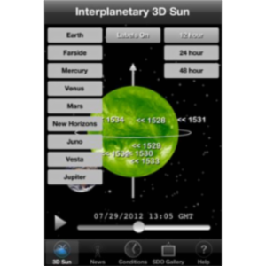 Interplanetary 3D Sun App for iOS icon