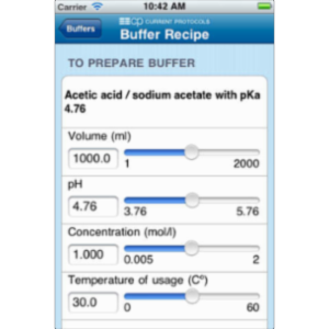 Biological Buffer Calculator App for iOS icon