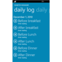 Diabetes Manager App for Windows Phone