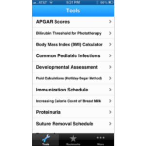 Pediatric Toolbox App for iOS