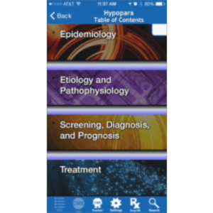 Hypoparathyroidism @Point of Care™ App for iOS icon