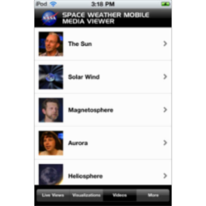 NASA Space Weather Media Viewer App for iOS icon