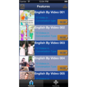 English Conversation Videos App for iOS icon