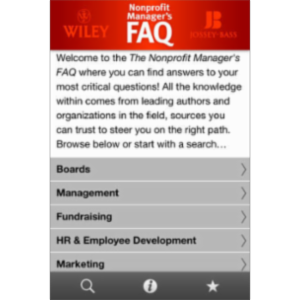 Nonprofit Manager's FAQ App for iOS icon