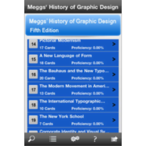 Meggs' History of Graphic Design, Fifth Edition Flashcards App for iOS. icon