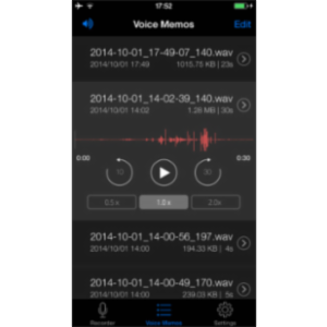 Voice Recorder HD App for iOS icon