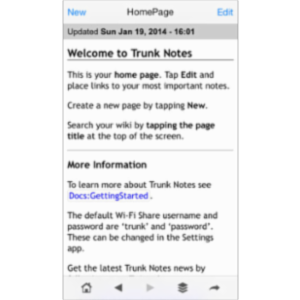 Trunk Notes Personal Wiki App for iOS icon
