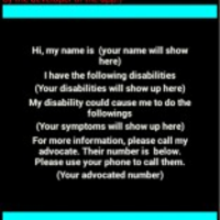 Disability Card App for Android icon