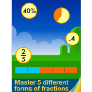Motion Math: Fractions! App for iPad icon