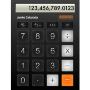 Jumbo Calculator App for iPad icon