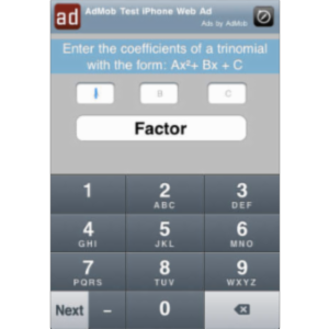iFactor Quadratics App for iOS icon