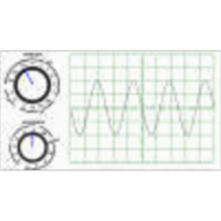 Determine sine wave characteristics using an oscilloscope icon
