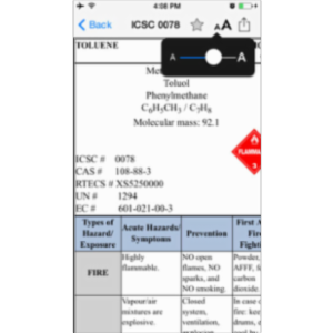 Chemical Safety Data Sheets - ICSC App for iOS
