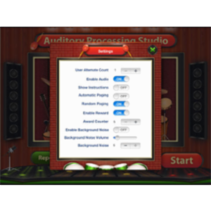 Auditory Processing Studio App for iPad
